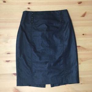 EXPRESS Denim Pencil Skirt In Dark Wash Size 00